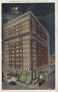 New York Utica Hotel Utica By Night 1920