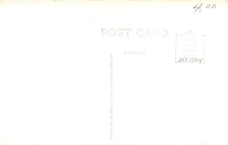 Audubon Iowa~Catholic Church & Parsonage~1940s Real Photo Postcard