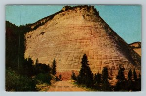 Cedar City UT- Utah, Rock Candy Mountain, Zion Mountain, Carmel, Chrome Postcard