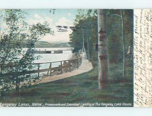 Pre-1907 STEAMBOAT LANDING Rangeley Lakes Maine ME A1085