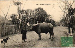 CPA AK VIETNAM - Village annamite (113530)