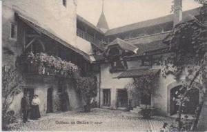 Couple in Courtyard, Chateau de Chillon, Veytaux, Vaud, Switzerland