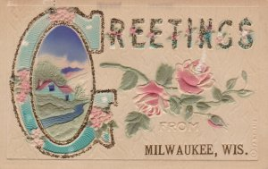 Wisconsin Greetings From Milwaukee With Roses