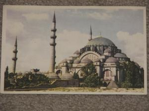 Mosque of Suleyman The Magnificent, Istanbul with 6 kemal Ataturk stamps
