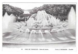 France Versailles Latona Fountain Vtg Bourdier Postcard