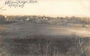 LP93 Hermitage  Missouri Postcard RPPC View of town
