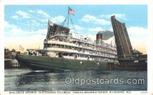 Christopher Columbus Steamer Ship Ships Postcard Postcards Unused