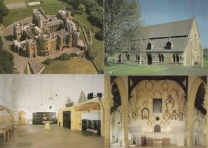 Belvoir Castle Lincs Old Kitchen Horseshoe Hall Aerial Great Hall 4x Postcard s