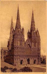 England Lichfield Cathedral from N.W.