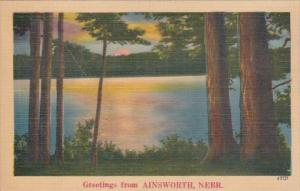 Nebraska Greetings From Ainsworth 1947