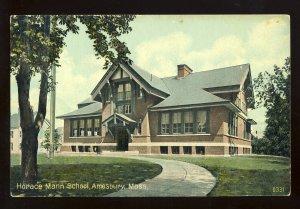 Amesbury, Massachusetts/MA/Mass Postcard, Horace Mann School