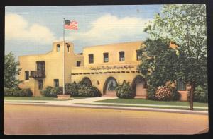 Linen Postcard Unused US Post Office Alamogordo NM LB