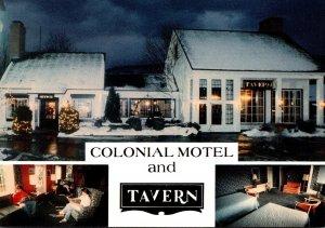 Vermont Brattleboro Colonial Motel & Tavern Putney Road