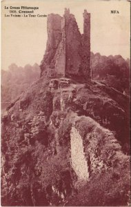 CPA CROZANT Les Ruines - La Tour Carree (1143697)