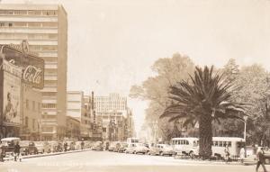 RP; MEXICO CITY, Mexico; Avenida Juarez, Street View, Coca-Cola, 1950s