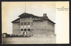Public School Building Twin Falls Idaho Unused c1907