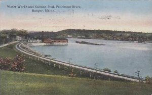 Maine Bangor Water Work And Salmon Pool Penobscot River