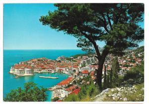 Croatia Dubrovnik Jugoslavia Birds Eye View Vtg  Postcard 4X6