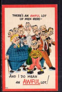 There's An awful Lot of Men Here Comic