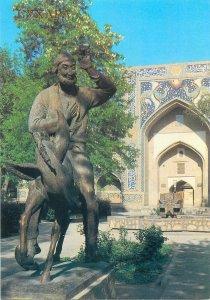 Post card Uzbekistan Bukhara Nasr-ad-Din monument statue