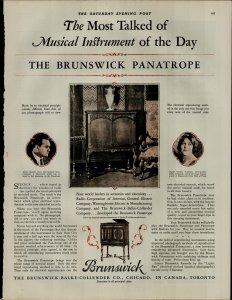 1927 Borunswick Panatrope Radio Mario Chamlee Vintage Print Ad 3882