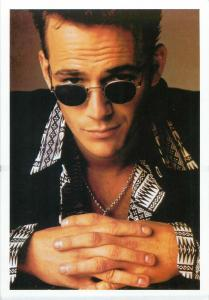 Actor Luke Perry postcard
