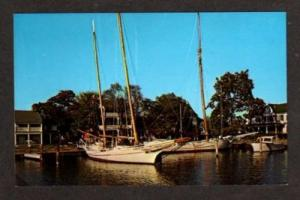 ST MICHAELS MARYLAND MD Edna E Lockwood Boat Postcard
