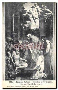 Postcard Old Pinacoteca Vaticana Roma Communion di Girolamo S