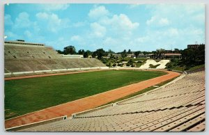 Columbia~University of Missouri Football Stadium~Big M From Bleachers~1958