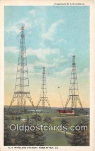 Radio Station Postcard Fort Myer, VA, USA US Wireless Station