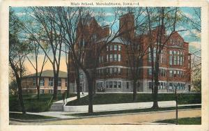 Marshalltown Iowa~High School~View from Street Corner shows Second Bldg~1920s