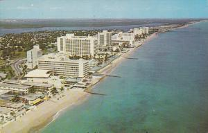 Aerial View, Bal Harbour, Hotel Row, MIAMI BEACH, Florida, 40-60´s
