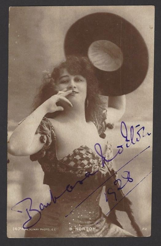 B Norton Actress 1928 color postcard