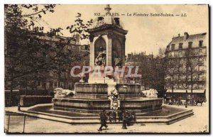Old Postcard Paris Fountain St. Sulnice