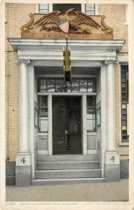 Salem MA~Old US Customs House~Eagle & Shield Over Doorway~1910 Detroit Pub Co