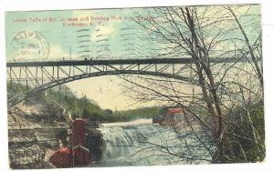 Lower Falls of the Genesee and Driving Park Ave. Bridge,Rochester,New York,PU...