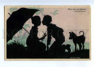 233651 Kiss Kids UMBRELLA by Rolf WINKLER Vintage SILHOUETTE