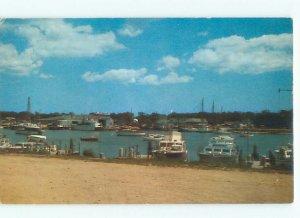 Pre-1980 BOAT SCENE Cape Cod - Falmouth Massachusetts MA AF4270