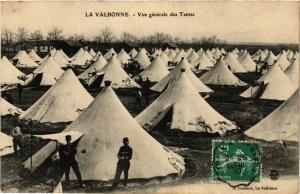 CPA Militaire, La Valbonne - Vue generale des Tentes (277729)