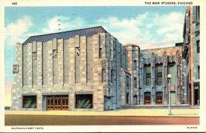 Illinois Chicago W G N Studios 1940 Curteich