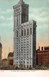 Times Building, Manhattan, New York City, Early Postcard, Unused