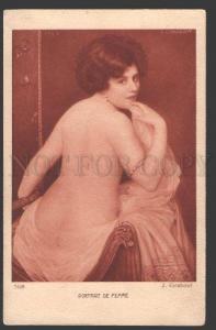 107517 Portrait NUDE Lady BELLE by CORABCEUF Vintage SALON PC