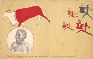 BG32750 types of a bushman painting in quthing district of basutoland lesotho