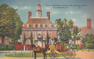 Virginia Williamsburg Royal Governors Palace And Colonial Coach