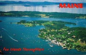 Maine Fox Island ThoroughfareAerial View