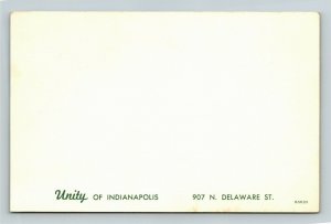 Indianapolis IN- Indiana, Unity of Indianapolis, Chrome Postcard