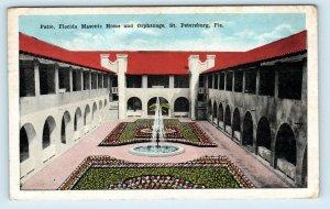 ST PETERSBURG, FL Florida ~ MASONIC HOME & ORPHANAGE 1919  Postcard