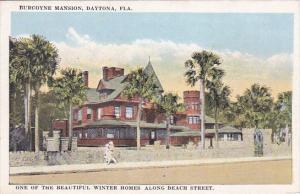 Florida Daytona Burgoyne Mansion One Of The Beautiful Winter Homes Along Beac...