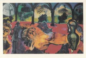Lucy Ross Vanity 1988 Oil On Canvas Chiswick London Painting Postcard