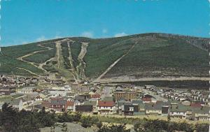 Center Town and Ski Hills,  Murdochville,  Quebec,  Canada,  PU_1985